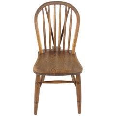 Antique Single Chair, Windsor Kitchen Chair, Elm and Ash, Scotland 1900, B2290