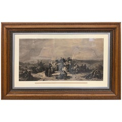 Antique Sir Fenwick Williams Extra Large Framed Etching Print Art