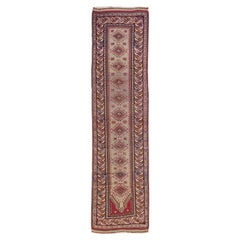 Antique Sivas Handmade Multicolor Geometric Wool Runner