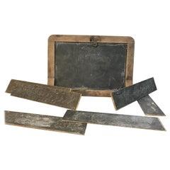 Antique Slate Desk Chalkboard Box