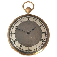 Antique Slim 18 Karat Gold Quarter Pump Repeating Pocket Watch