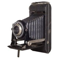 Antique Small Kodak Kodex Folding Camera and Leather Case, circa 1930