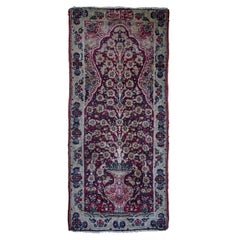 Antique Small Lavar Kerman Hand Woven Pictorial Rug