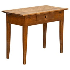 Antique Small Pine Farmhouse Side Table