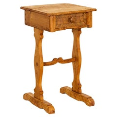 Antique Small Side Table Nightstand from Denmark