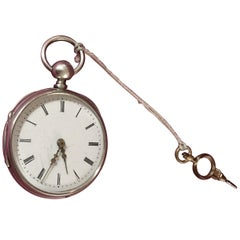 Antique Small Silver Quarter Repeater Pocket Watch