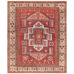 Antique Small Size West Anatolian Bergama Rug. Size: 5 ft 6 in x 7 ft