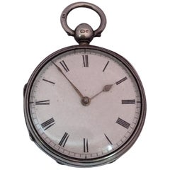 Antique Small Victorian Silver Fusee Lever Pocket Watch