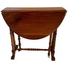 Antique Small Victorian Walnut Drop-Leaf Sutherland Table