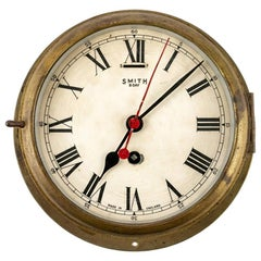 Antique Smith 8-Day Shipboard Clock