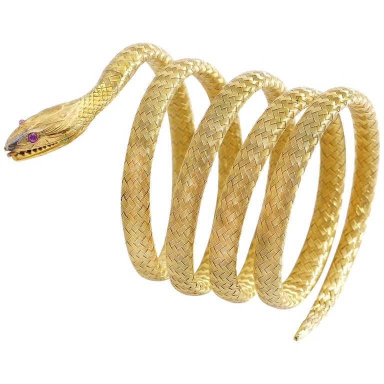 Antique Snake Bracelet At 1stdibs