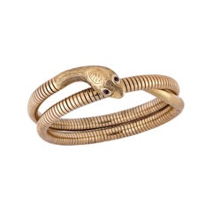 Antique Snake Gold Bracelet Tubogas