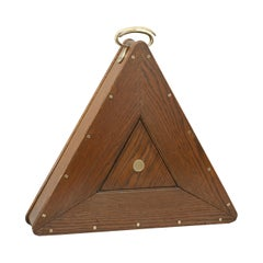 Antique Snooker Balls in Oak Snooker Ball Case with Triangle