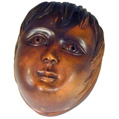 Antique Snuff Box of a Head of a Boy