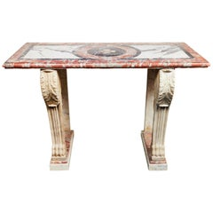 Antique, Solid Marble Console Table