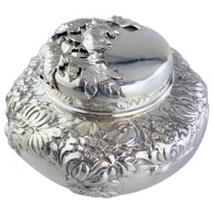 Antique Solid Silver Tea Caddy, George W Shiebler, USA, Early 20th Century