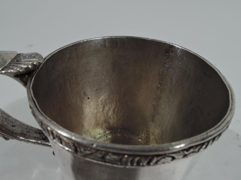Antique South American Classical Silver Christening Mug In Excellent Condition For Sale In New York, NY