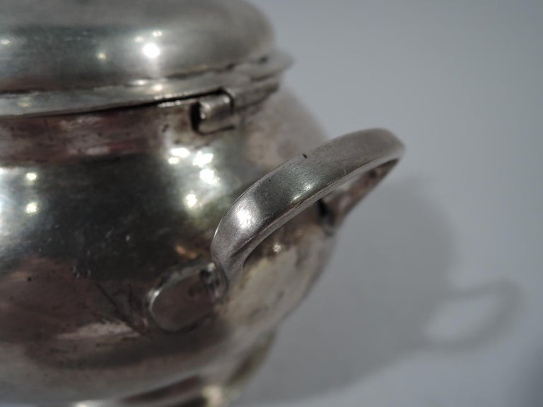 Antique South American Silver Sugar Bowl For Sale 5