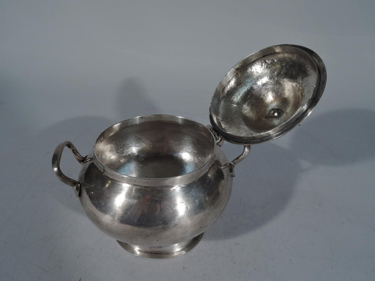 Antique South American Silver Sugar Bowl In Good Condition For Sale In New York, NY