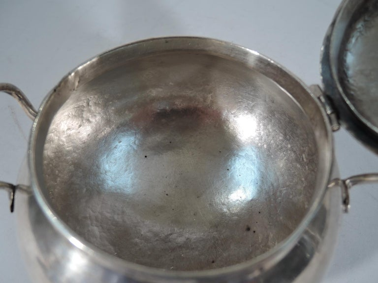 Antique South American Silver Sugar Bowl For Sale 4