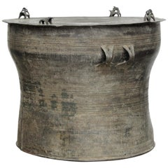 Antique Southeast Asian Bronze Rain Drum