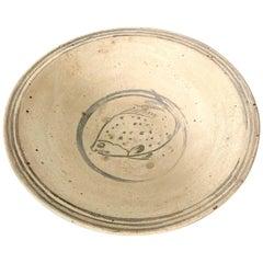 Antique Southeast Asian Ceramic Fish Bowl Thailand Sukhothai Period