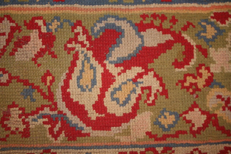 Early 20th Century Antique Spanish Art Nouveau Orientalist Square Rug For Sale