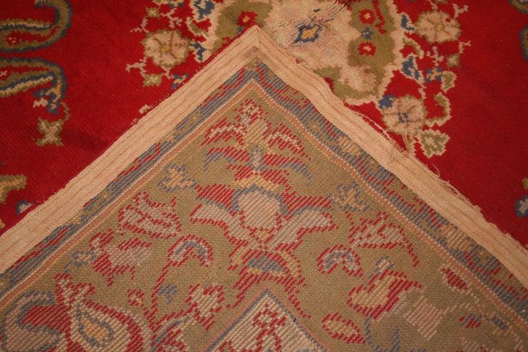 Wool Antique Spanish Art Nouveau Orientalist Square Rug For Sale