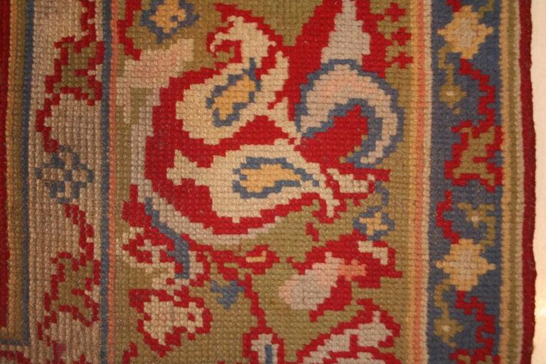 Antique Spanish Art Nouveau Orientalist Square Rug For Sale 1