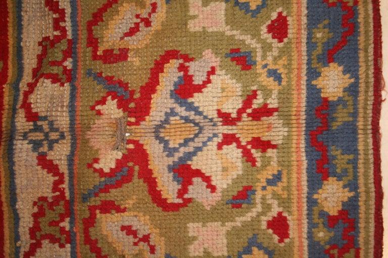 Antique Spanish Art Nouveau Orientalist Square Rug For Sale 2