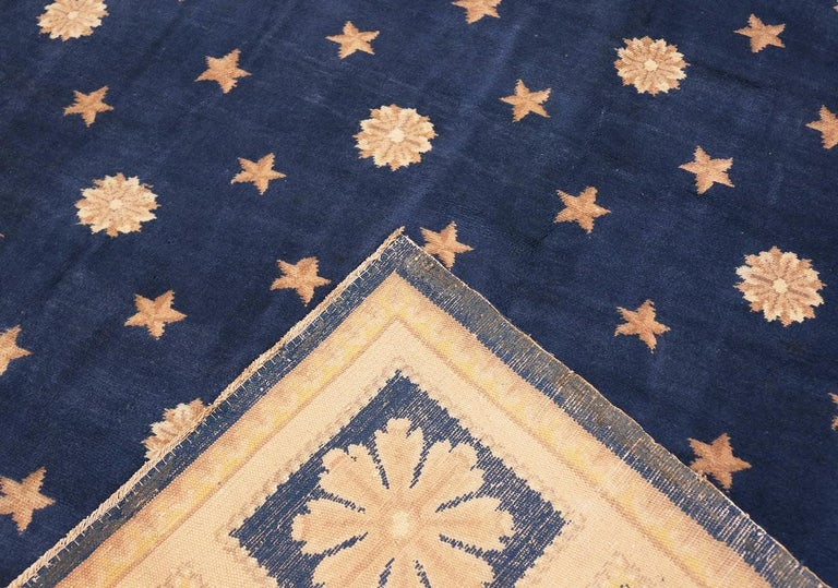 20th Century Antique Spanish Carpet with Celestial Design. Size: 11 ft 5 in x 12 ft 9 in For Sale
