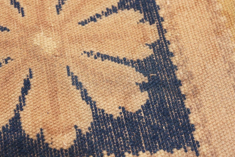 Wool Antique Spanish Carpet with Celestial Design. Size: 11 ft 5 in x 12 ft 9 in For Sale
