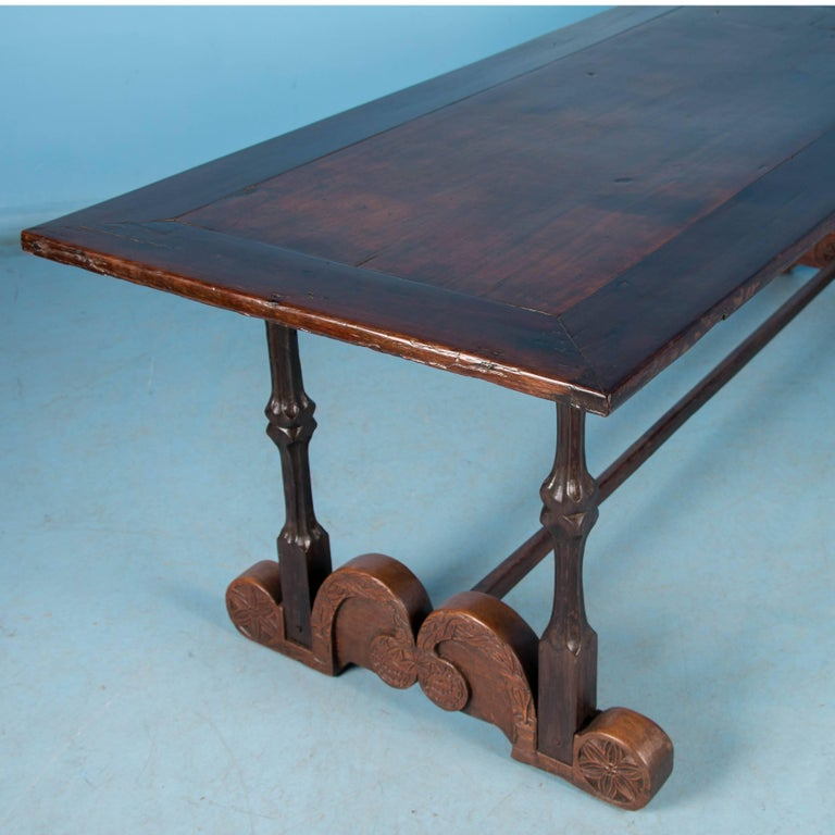 Carved Tables Philippines: Antique Spanish Colonial Dining Table From The Philippines