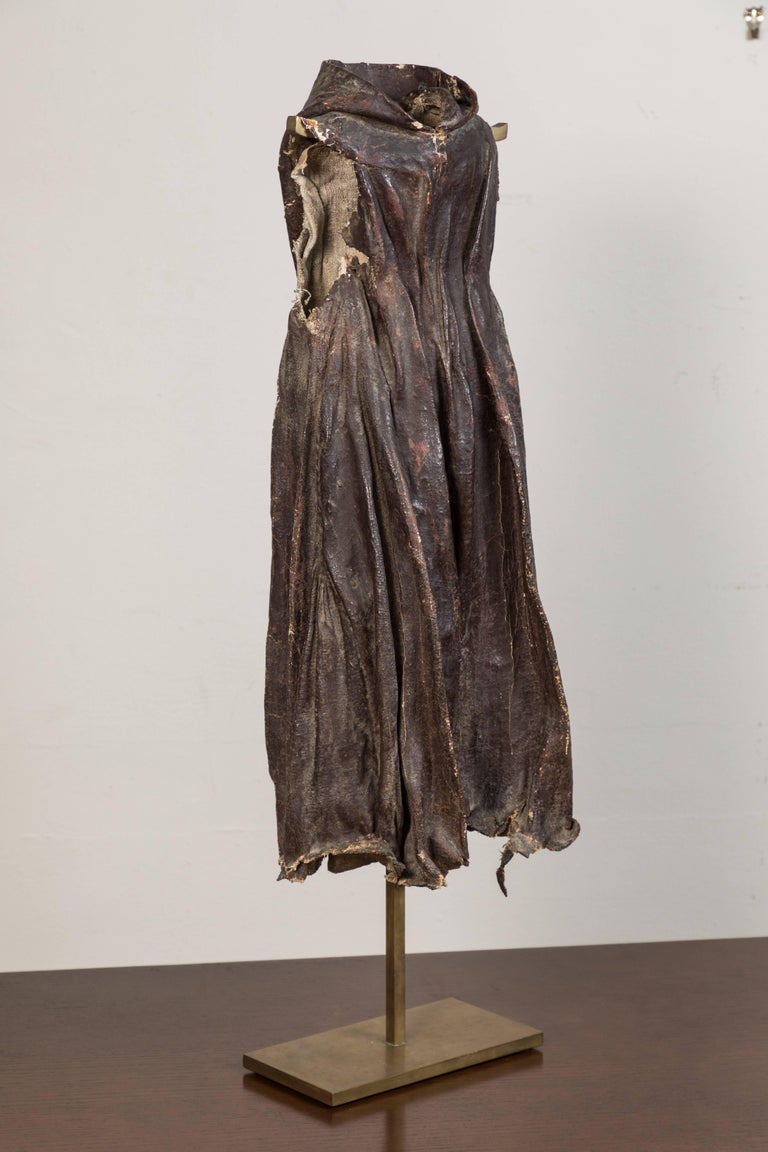Antique Spanish Colonial Santos Cloak In Distressed Condition For Sale In Los Angeles, CA