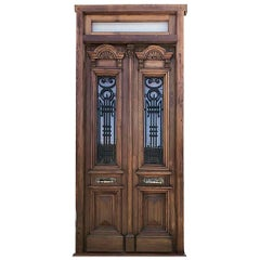 Antique Spanish Colonial Solid Teak Doors