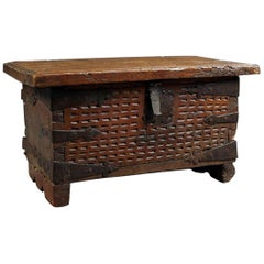Antique Spanish Colonial Trunk Bench