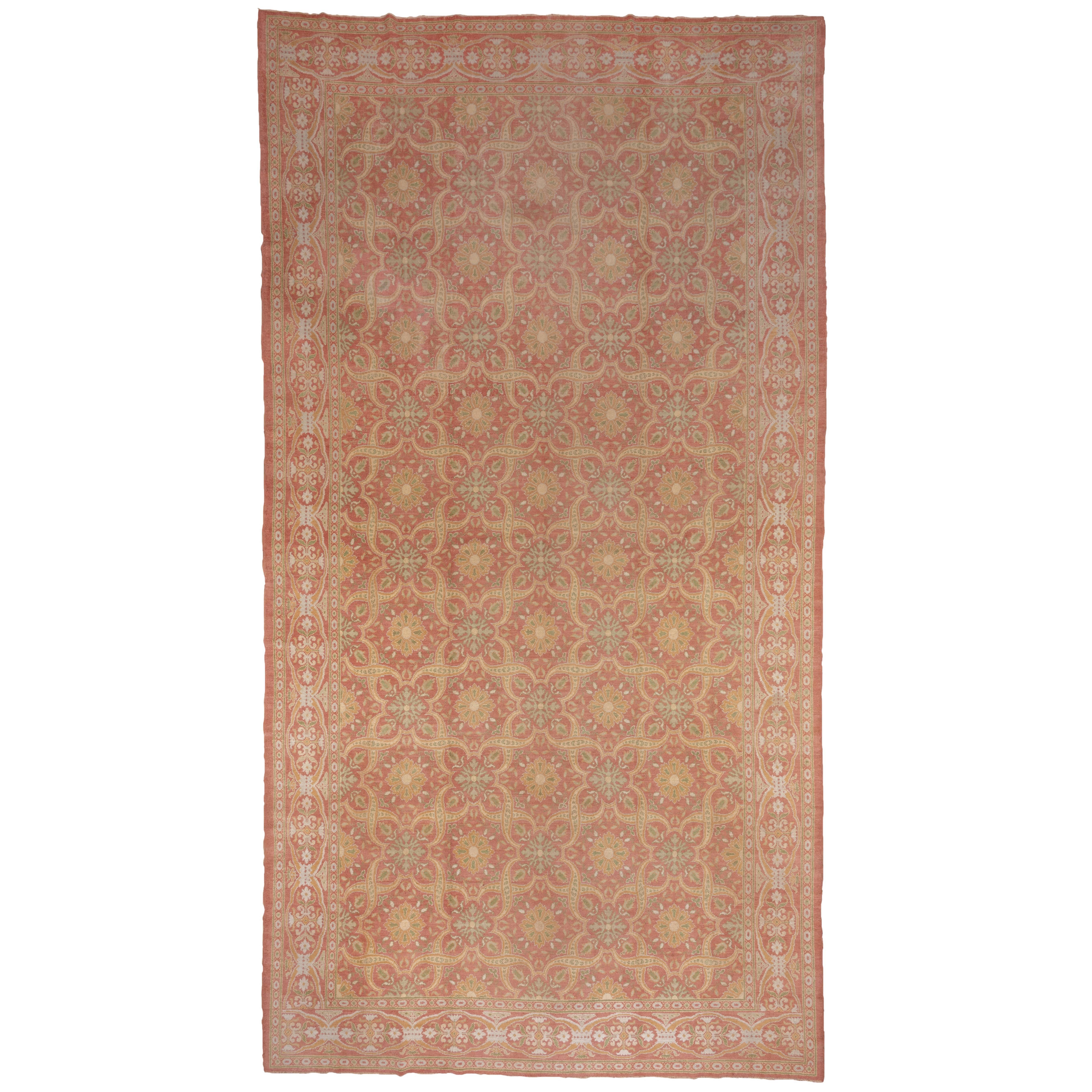 Antique Spanish Cuenca Carpet