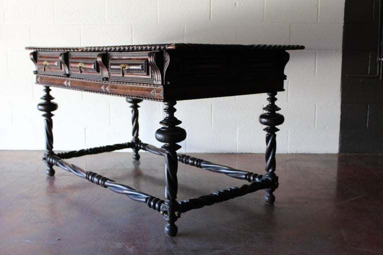 Antique Portuguese Library Table For Sale 8