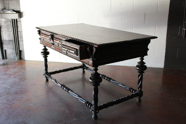 Antique Portuguese Library Table For Sale 2