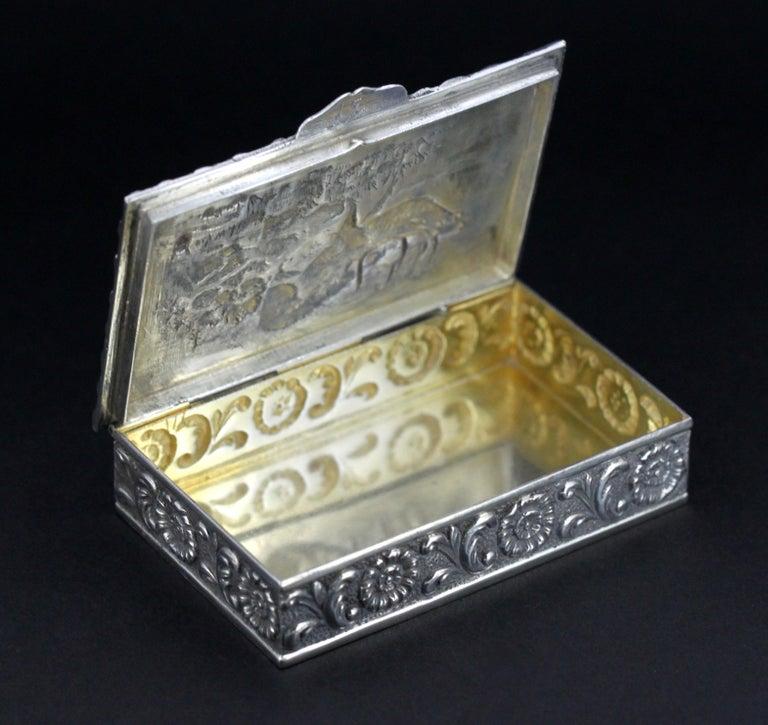 Antique Spanish Silver Snuff Box, 19th Century For Sale 8