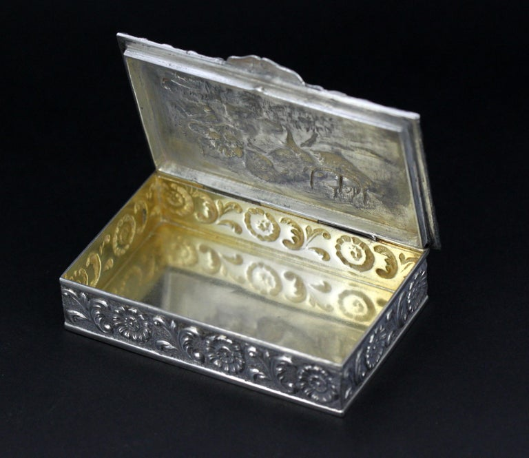 Antique Spanish Silver Snuff Box, 19th Century For Sale 9
