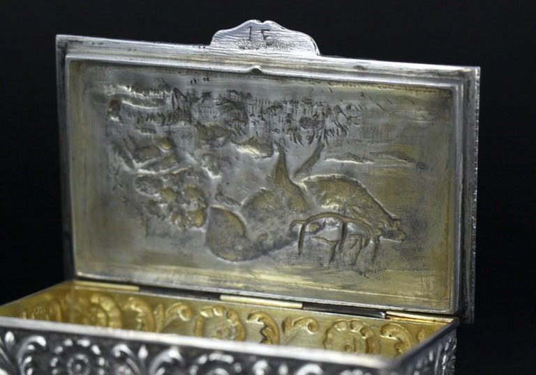 Antique Spanish Silver Snuff Box, 19th Century For Sale 10