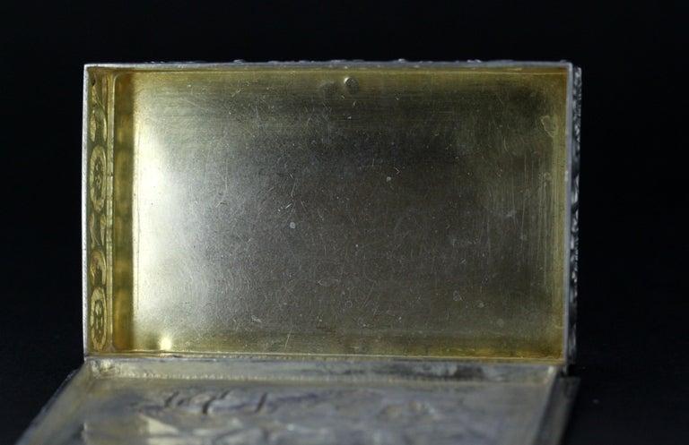 Antique Spanish Silver Snuff Box, 19th Century For Sale 11