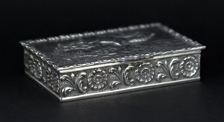 Antique Spanish Silver Snuff Box, 19th Century In Good Condition For Sale In Braintree, GB
