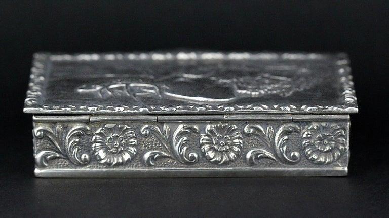 Antique Spanish Silver Snuff Box, 19th Century For Sale 1