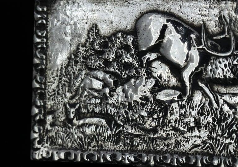 Antique Spanish Silver Snuff Box, 19th Century For Sale 3