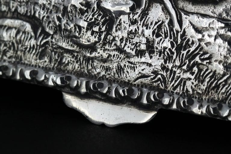 Antique Spanish Silver Snuff Box, 19th Century For Sale 5