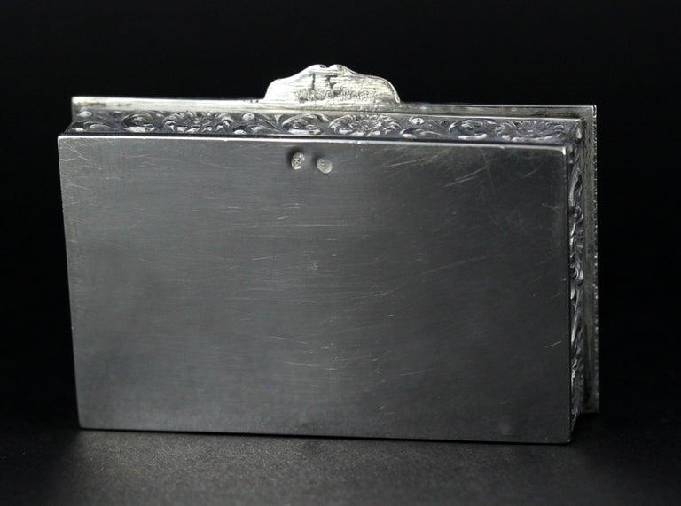 Antique Spanish Silver Snuff Box, 19th Century For Sale 6