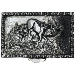 Antique Spanish Silver Snuff Box, 19th Century
