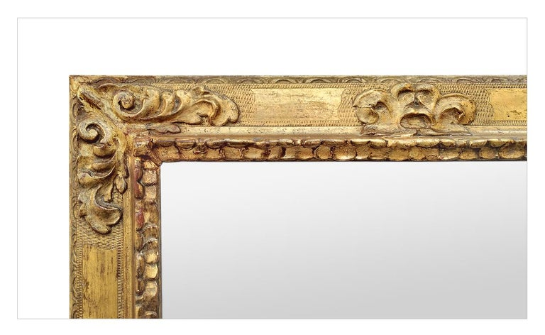 French Antique Spanish Style Giltwood Mirror, circa 1930 For Sale